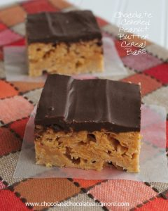 Chocolate Covered Peanut Butter Cereal Bars-why only have cereal for breakfast?