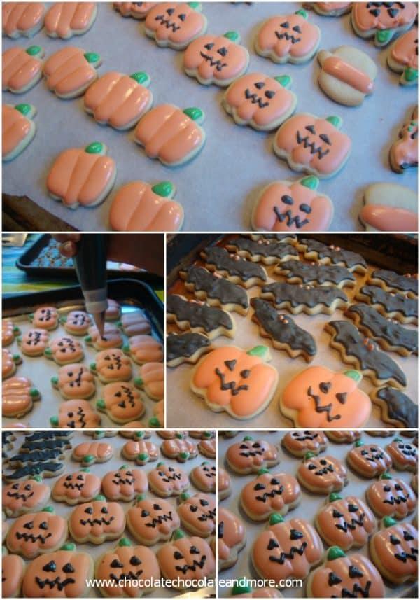 Decorating Cookies with Royal Icing-Halloween Pumpkins
