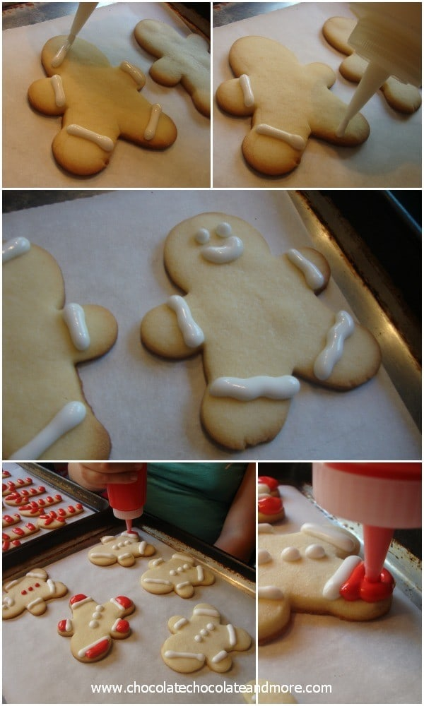 Decorating Cookies with Royal Icing-Cookie Men