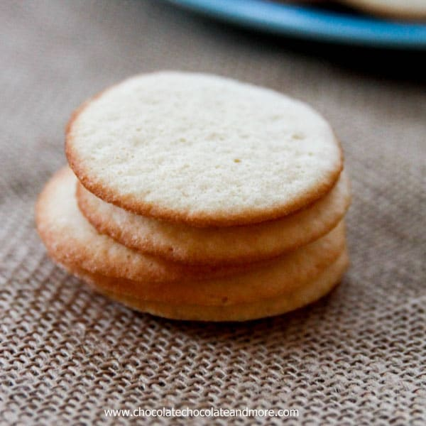 Butter Wafer Cookies-the light taste of butter in a thin, crisp cookie. Perfect alone or as an accompaniment to fresh fruit or ice cream.