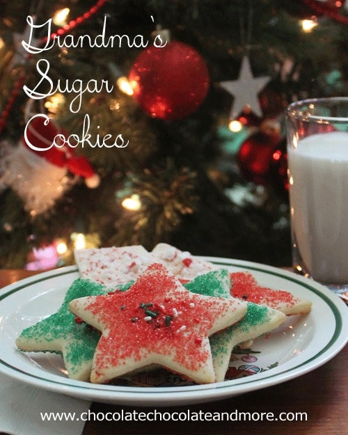Grandma's Sugar Cookies-a Christmas Tradition.