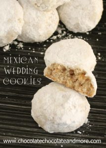 Mexican Wedding Cookies-also called Wedding cakes or Snowballs- Pecans, a few simple ingredients and lots of powdered sugar!