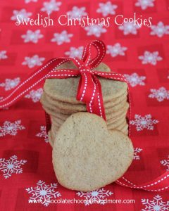 Swedish Christmas Cookies-a delightful blend of spices combine to give you a delicate, tasty cookie