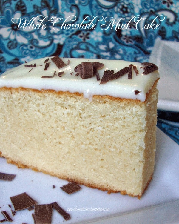 White Chocolate Mud Cake with a Sour Cream Ganache