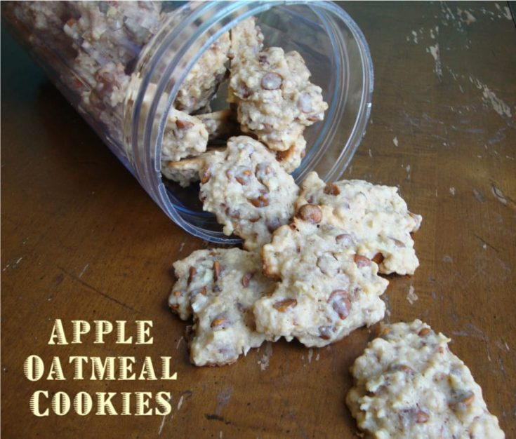 Apple Oatmeal Cookies from www.ChocolateChocolateandmore.com