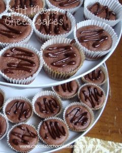 These Petit Mocha Cheesecakes are perfect for any party!