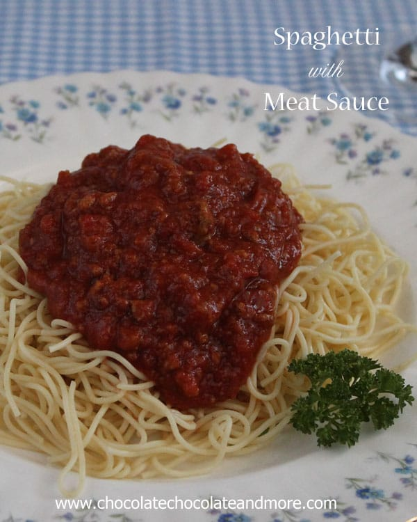 Meaty Spaghetti Sauce and Fine China Fridays