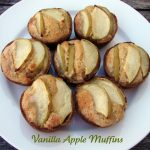 Vanilla Apple Muffins-the light sprinkle of sugar on top of these muffins is the perfect complement to the tart apple.