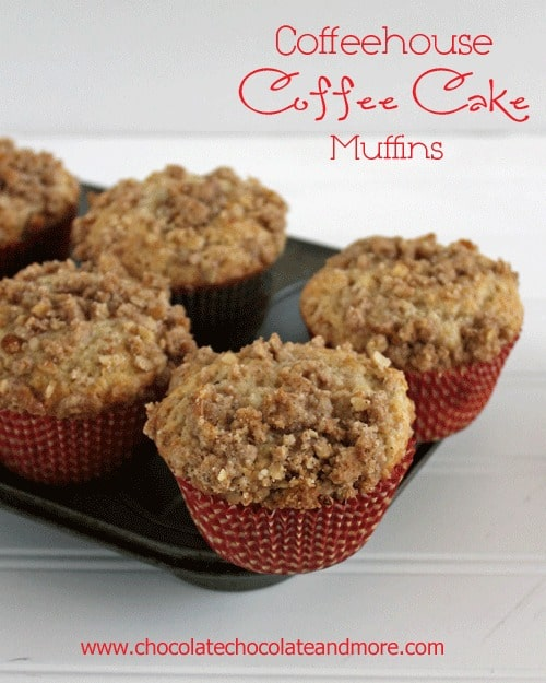 Coffeehouse Coffee Cake Muffins