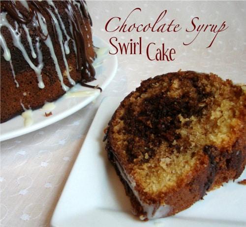 Hershey's Chocolate Syrup Swirl Bundt Cake