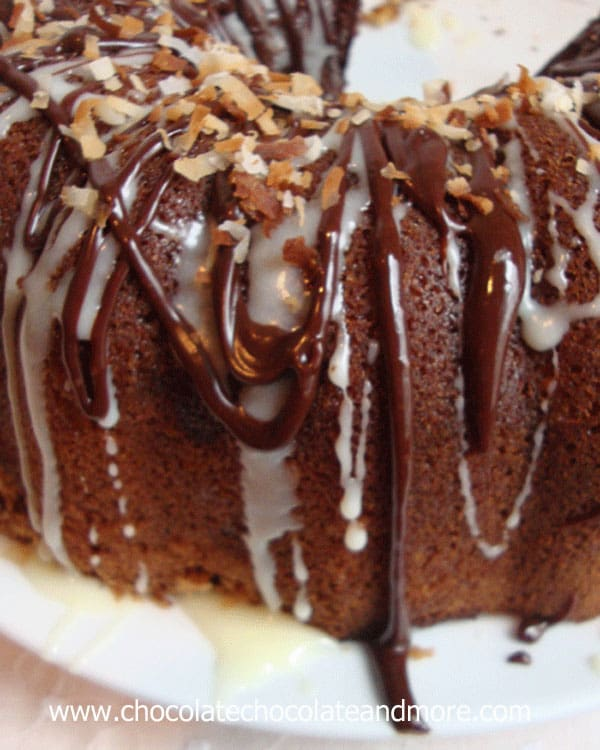 Chocolate Syrup Swirl Bundt Cake