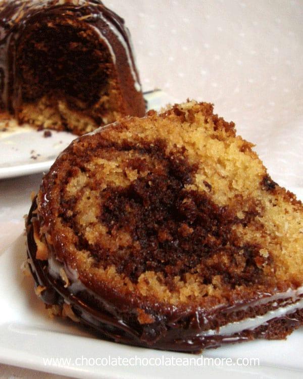 Chocolate Syrup Swirl Bundt Cake