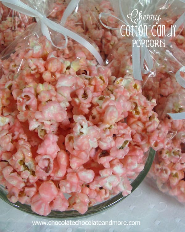 Cheery Cotton Candy Popcorn-just like eating cotton candy, but it's popcorn!
