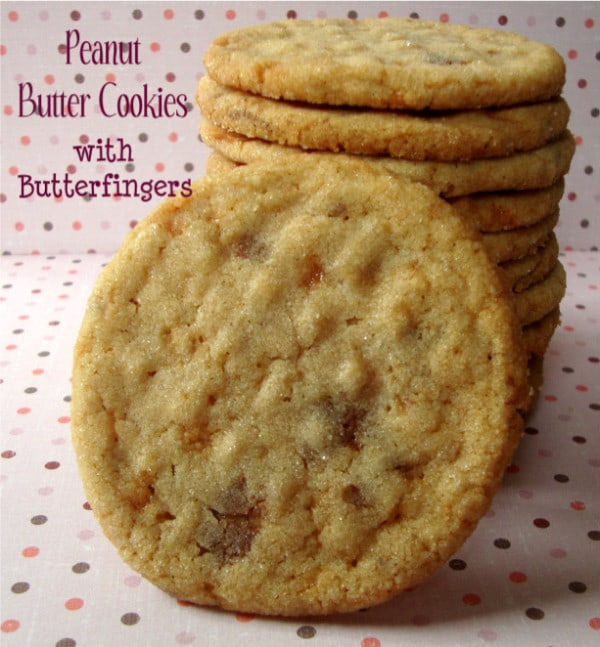 Peanut Butter Cookies with Butter Fingers