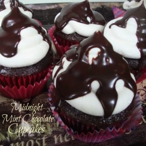 Midnight Mint Chocolate Cupcakes