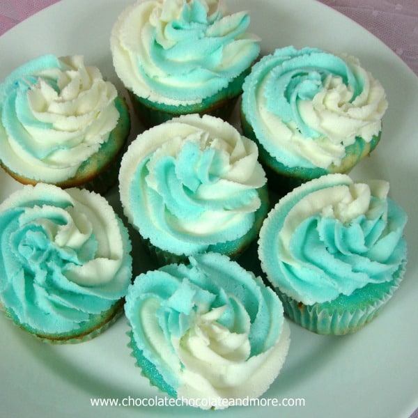 Jello Swirl Cupcakes with Jello Buttercream Icing