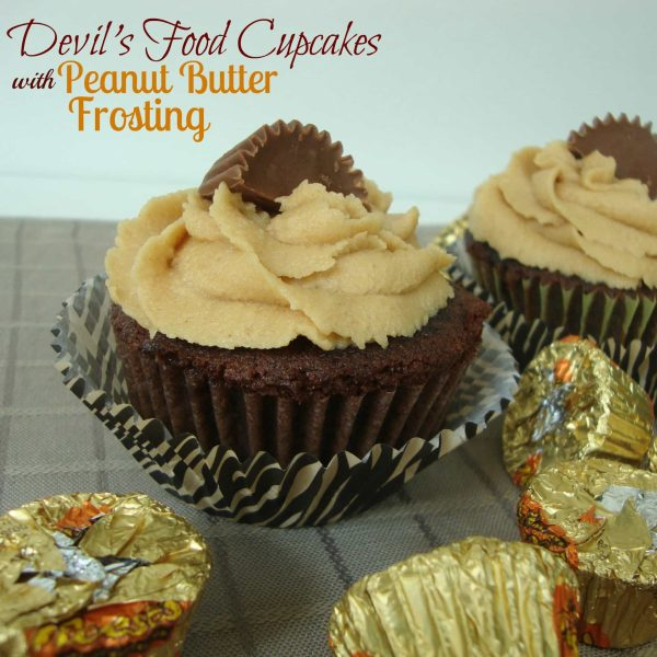 Devil's Food Cupcakes with Peanut Butter Frosting because there is no better combination than Peanut Butter and Chocolate!