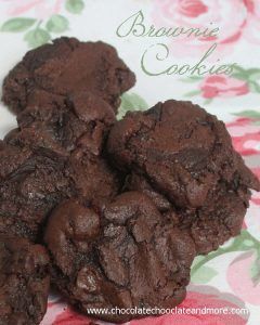 Brownie Cookies, the great taste of a brownie with the convenience of a cookie