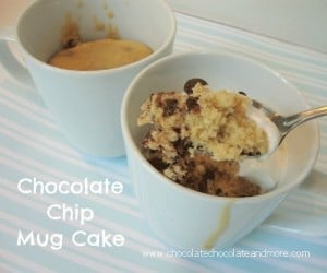Chocolate Chip Cookie Dough Mug Cake-perfect when you just want a little something sweet!
