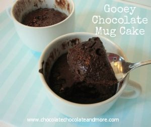 Gooey Chocolate Mug Cake-3 ingredients and just a few minutes to chocolate gratification!
