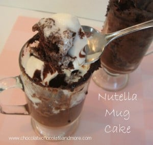 Nutella Mug Cake-in less than 5 minutes you can be enjoying this delicious, easy to make cake in a mug!