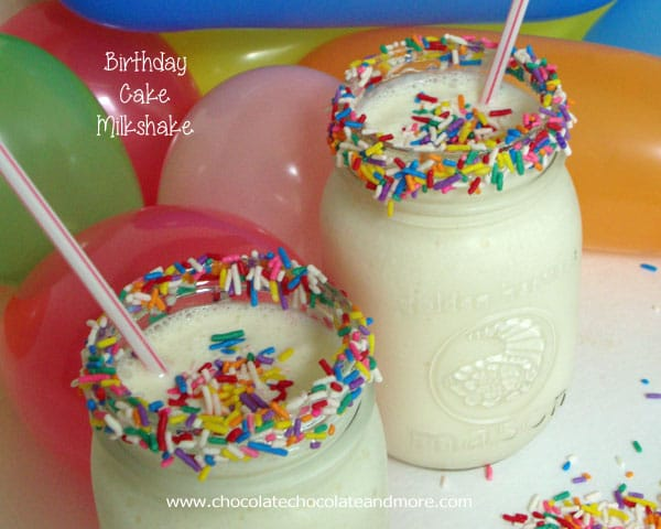 Birthday Cake Milkshakes-yes you can make them at home and it doesn't have to be on your Birthday!