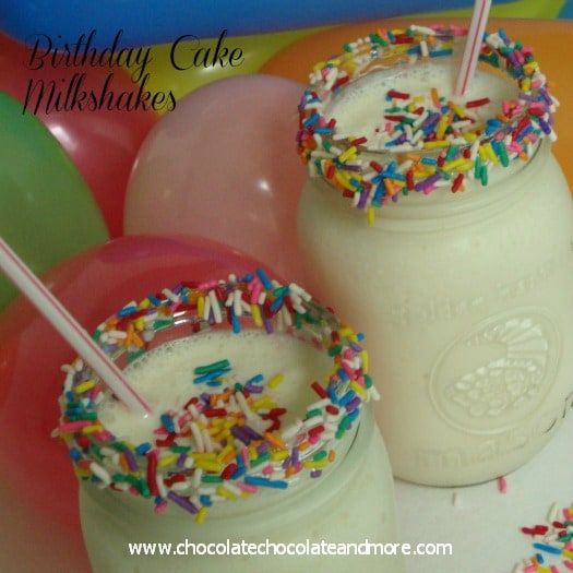 Birthday Cake Milkshakes-yes you can make them at home!