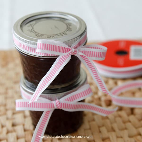 Homemade Chocolate Almond Butter makes a perfect gift!