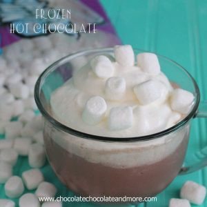 Frozen Hot Chocolate-perfect for a warm day!