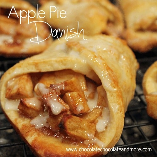 Apple Pie Danish-fast and easy to assemble, perfect for breakfast, snack or dessert!