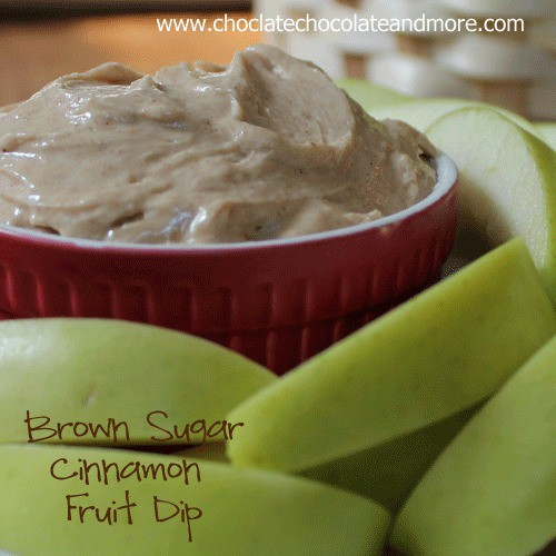 Brown Sugar Cinnamon Fruit Dip-makes eating fruit fun!