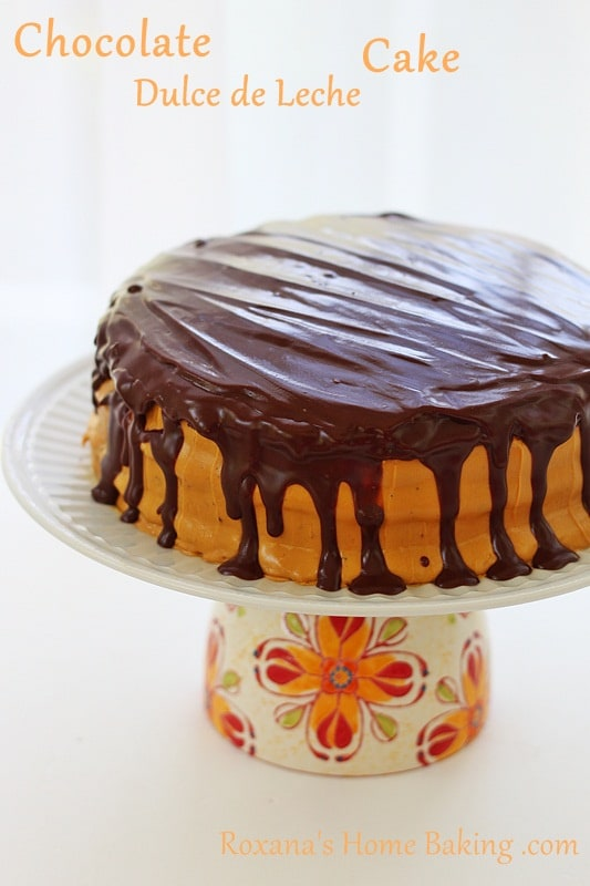 Chocolate Dulce de Leche Cake-guest post