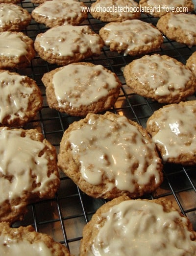 Maple Glazed Oatmeal Cookies-these taste just like the glazed oatmeal cookies you buy in the store, only better!