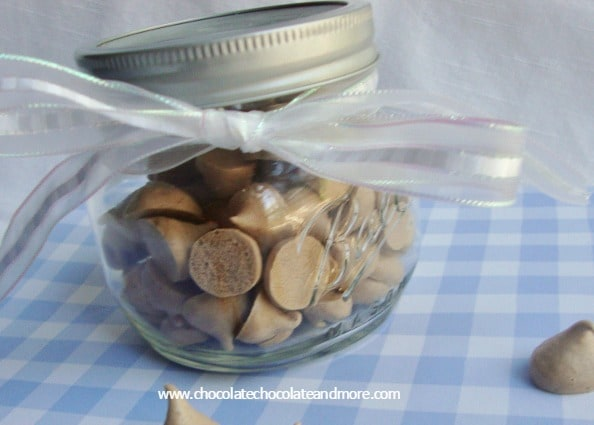 Chocolate Meringues-made with egg whites, these are naturally low fat, make them bite sized and they become candy!