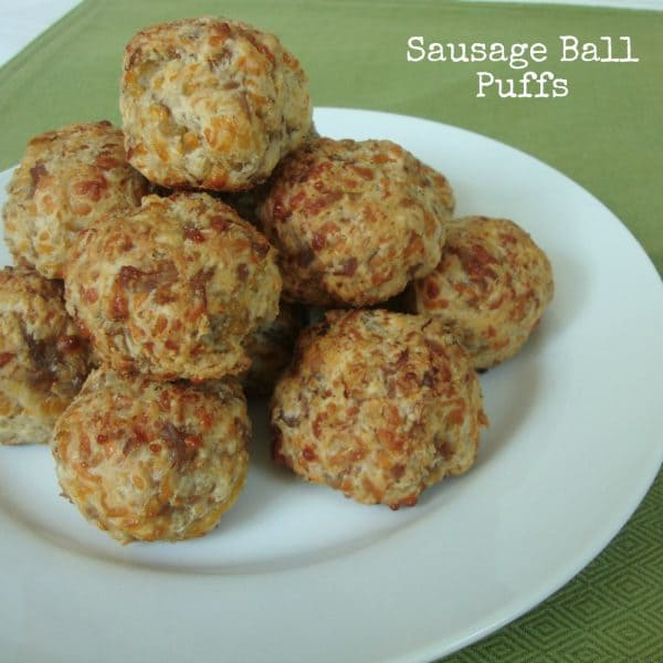 Sausage Ball Puffs from www.ChocolateChocolateandmore.com