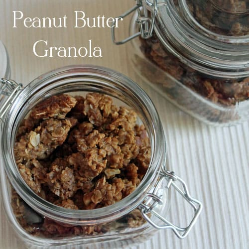 Homemade Peanut Butter Granola-eat it for breakfast or as a snack