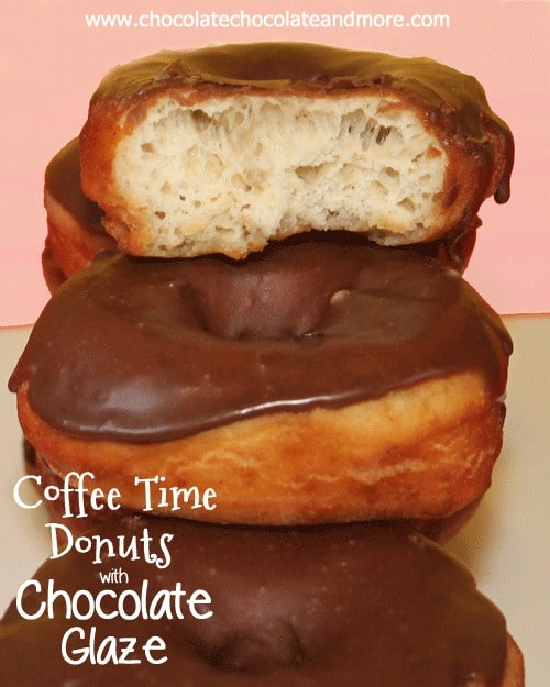 These Coffee Time Donuts with Chocolate Glaze are so light and airy, the perfect yeast doughnut!