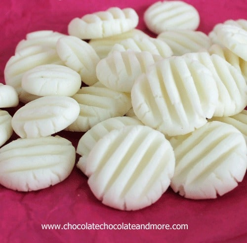 Cream Cheese Mints also known as Wedding Mints-easy to make, perfect to serve for any event.