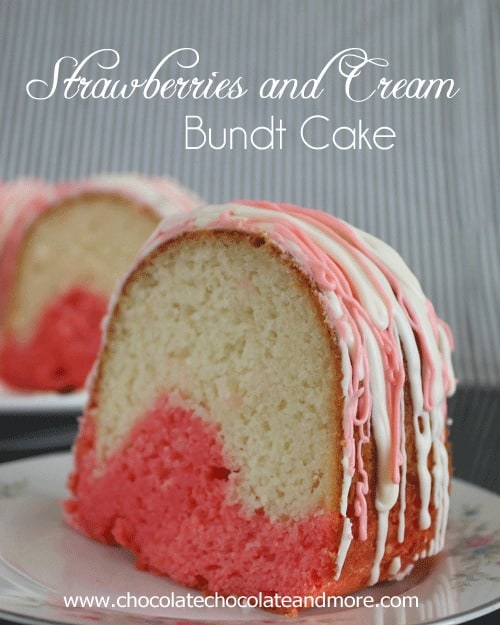 Strawberries And Cream Bundt Cake Using Jell O