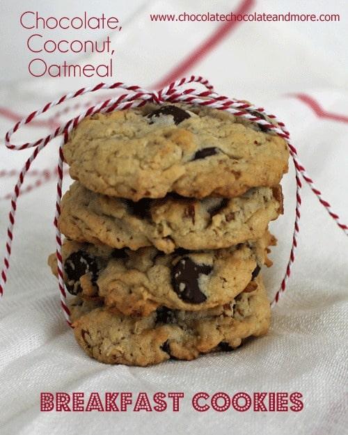 Chocolate Coconut Oatmeal Breakfast Cookies