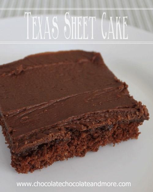 Texas Sheet Cake Chocolate Chocolate and More
