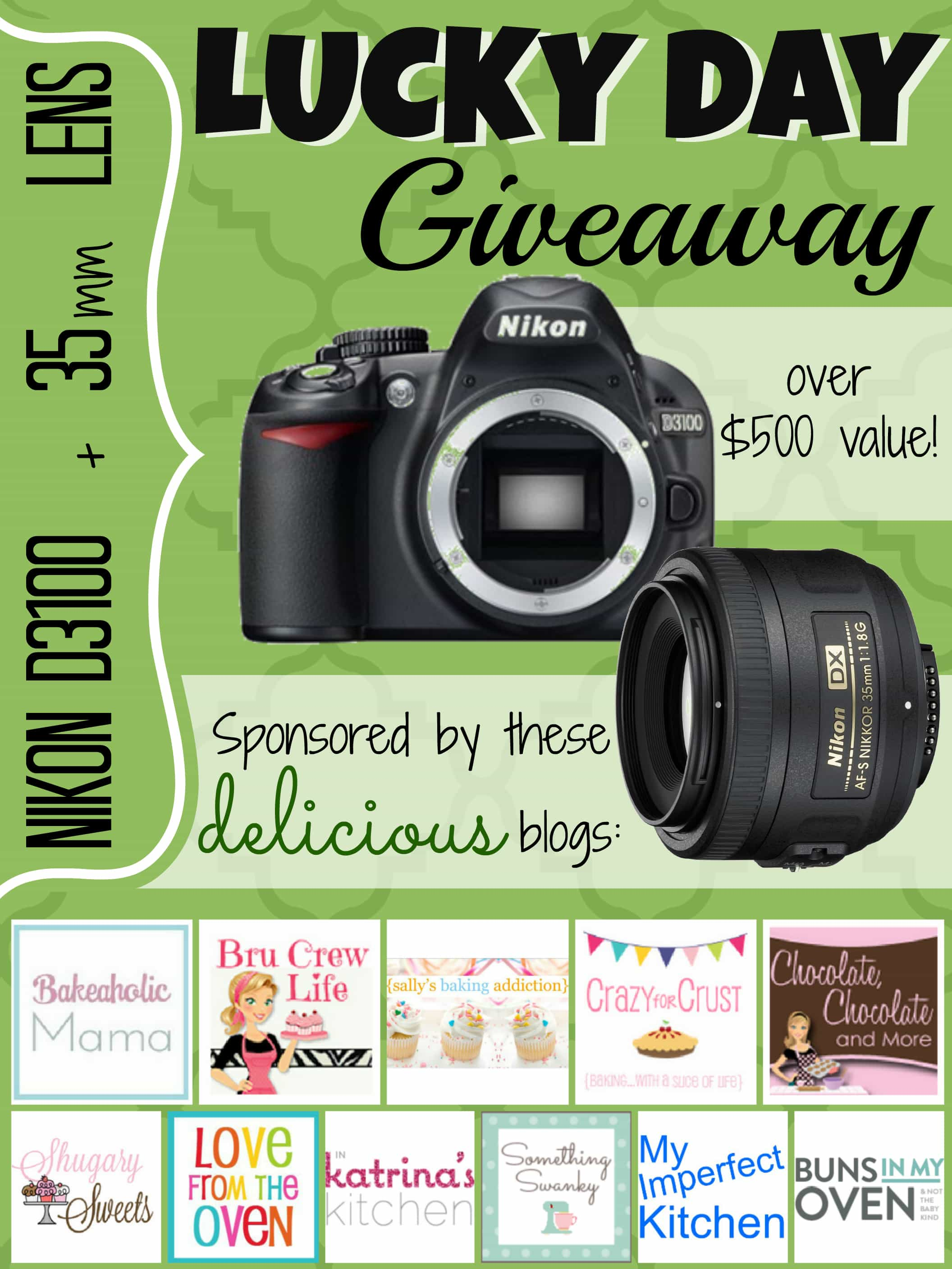 Nikon D3100 + 35mm Lens #giveaway - Chocolate Chocolate and More!