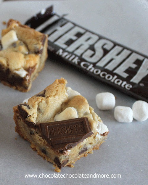 Smores Cookie Bars - Chocolate Chocolate and More!