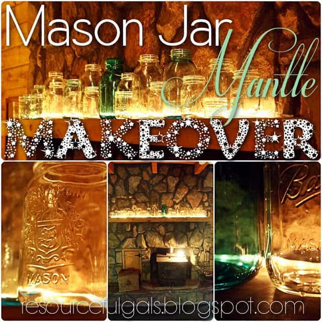 Mason Jar Mantle Makeover Main Pic
