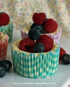 Mini Lemon Cheesecakes with fresh berries-the perfect light dessert