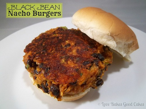 Black Bean Nacho Burger