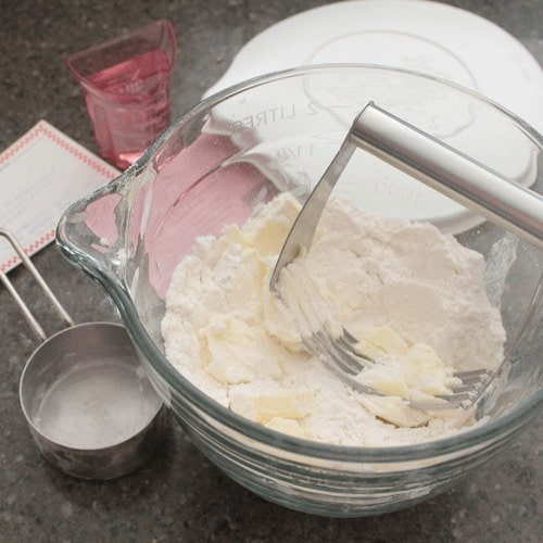 The best pie crusts always start with cold butter!
