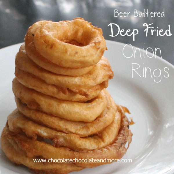 Beer Battered Onion Rings-the right oil and the right onion make all the difference! #VidaliaOnions #SweetOnions
