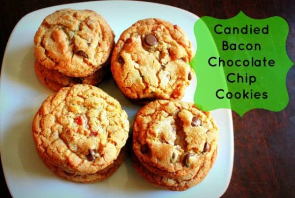Candied Bacon Chocolate Chip cookies from I Want Crazy featured at Thursday's Treasures