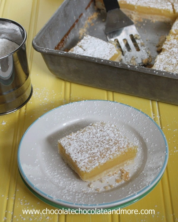 Lemon Pie Bars-all the taste of a Lemon Pie with the convenience of a handy bar